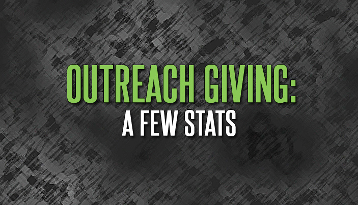 Outreach Giving: A Few Stats